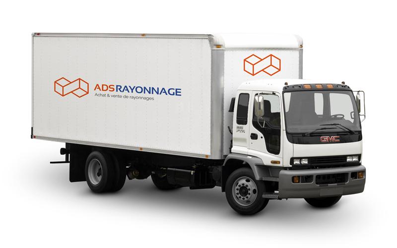 Camion de livraison de rack d'occasion