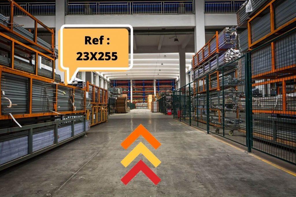 Interface de vision picking dans un entrepôt logistique