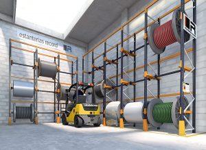 porte bobine pour rack industriel