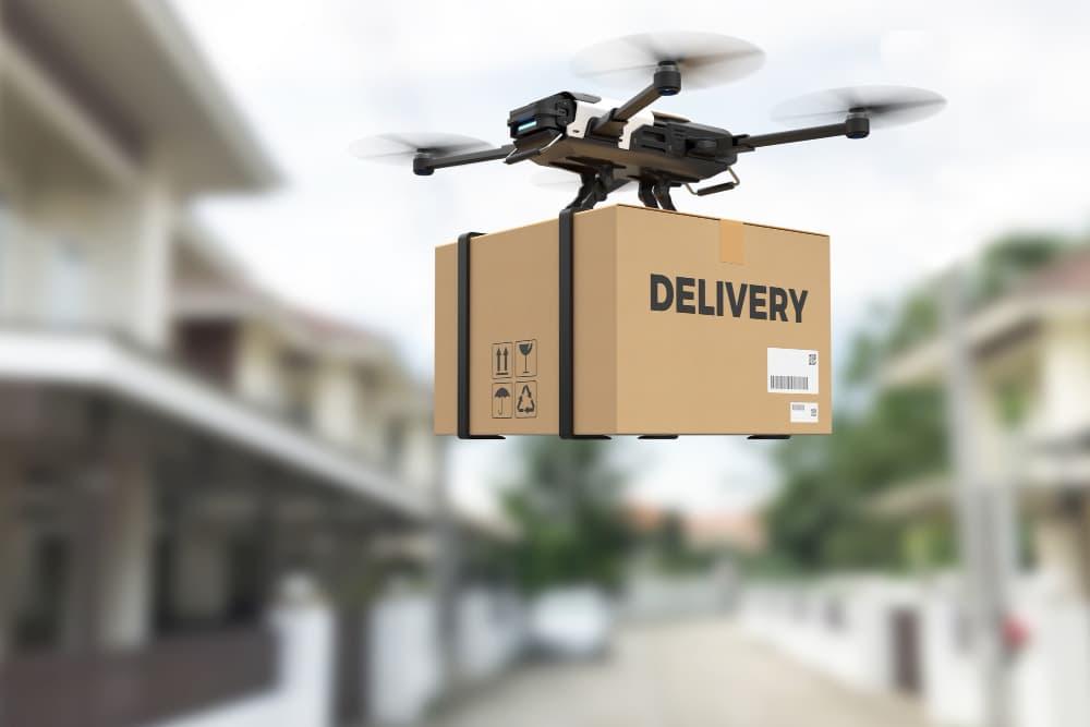 livraison par drone en ville